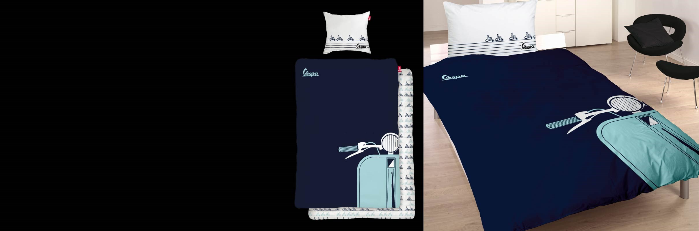Bed Linen Vespa, variuos designs, 100% cotton