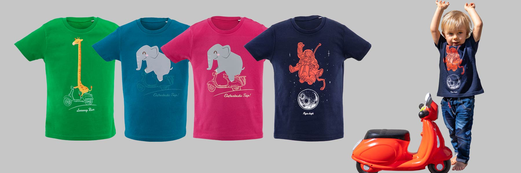 Kids Scooter T-Shirts