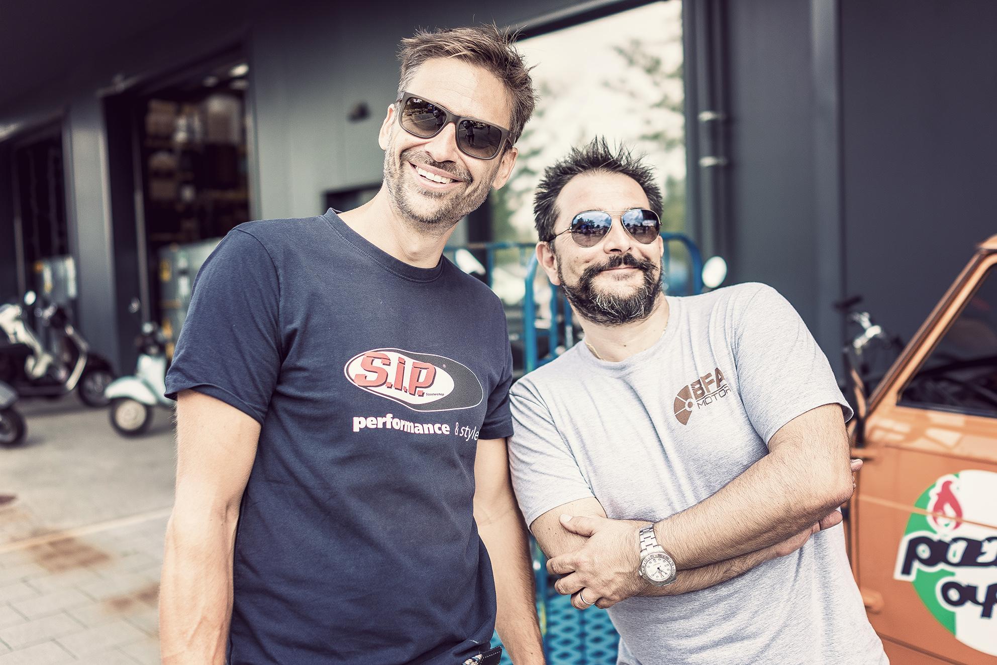 Alex (SIP) und Alessandro (BFA) haben sichtlich gute Laune.